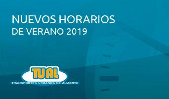 <span>Noticias </span> Horarios de verano 2019
